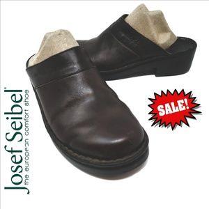 ❤ Josef Seibel Brown Leather Mules Women's Size  8